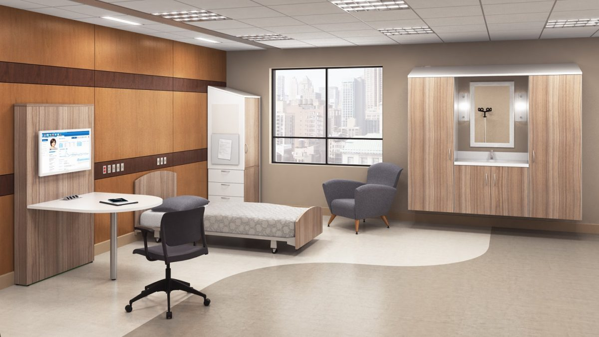 Hospital Room Typical Wall Hung Intellicare Furniture